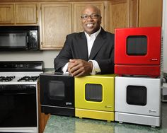 Phil Davis with the iWavecube, the world's first portable, personal microwave. Photos Jamie Janos