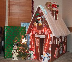 Gingerbread house made from a box!
