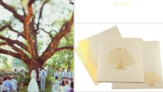 Decided to have an outdoor wedding? Check this #WeddingCard- http://indianweddingcard.in/RP3016.html #OutdoorWedding