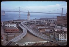 San Francisco, 1965, Embacadero & Bay Bridge.