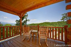 Deja View is a luxurious one bedroom cabin with Smoky Mountain views, fireplace, Jacuzzi, hot tub, WiFi Internet, pool table and sleeping up to six guests.
