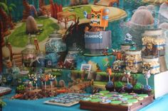 skylander party ideas with candy buffet