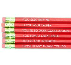 why i love you pencils