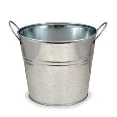 metal bucket, buckets, lucki clover, metals, clover trade, side handl, pail, diy, classic round