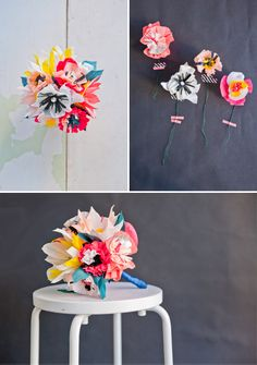 decor, paper craft, crafti, happi, flower bouquets
