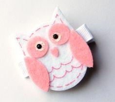 baby owl hair clip
