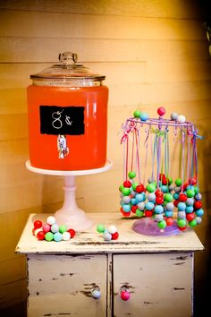 Necklaces made with gumballs! Gumball Themed 8th Birthday Party with Lots of REALLY CUTE Ideas via Kara's Party Ideas | KarasPartyIdeas.com #Gumballs #Party #Ideas #Supplies #gumballnecklace