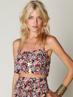 beaches, boutiqu, crop tops, dress, outfit, beach party, floral, bohemia, style fashion