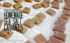 Homemade Sea Salt Caramels from the Microwave