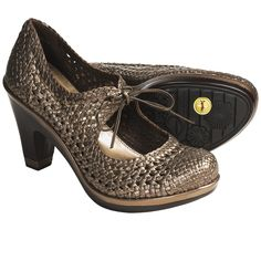 Jambu Bangalore Pumps - Woven Leather (For Women) in Bronze