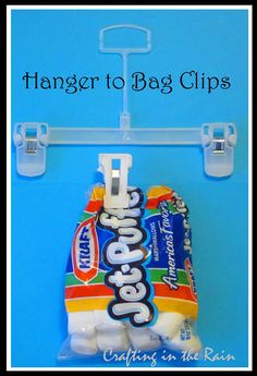 old pants hangers to chip clips.