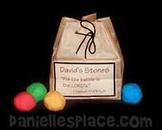 David's little stones craft.  Not this image but idea is on this page.  Just couldn't pin the image.