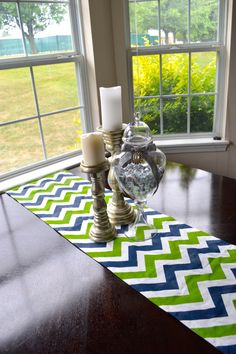 DIY Finished Chevron Table Runner