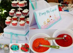 pimp my cupcake game: everyone decorates cupcake : bride choices the best: winner get prize: everyone gets to eat a cupcake :)