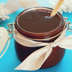 """Homemade hot fudge sauce - A super simple recipe for hot fudge sauce from Simply Gourmet ... I'm thinking this would be an awesome gift ... you could make an """"ice cream sundae"""" gift basket with a jar of this, some pretty ice cream sundae glasses and long spoons, maybe add a couple little bags or containers of sprinkles or mini chocolate chips or chopped nuts?"""