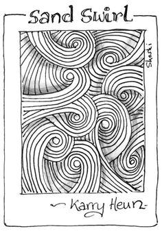 Cool Zentangle Patterns Step By Step More on my zentangle album