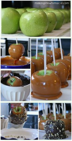 Learn how to make DELICIOUS Caramel Apples with this easy tutorial. Includes a FREE printable tag! www.makinglifewhimsical.com #apples #caramelapples #fall #halloween