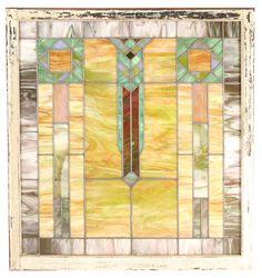Prairie School stained glass window