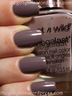 Nail polish of the week: Wet N Wild Wet Cement. (These are not my nails.) This is a great greige for cool-toned skin. The brush in my bottle is a little scruffy, which is a problem others have had with this line. I have other colors in this line with perfectly even brushes, so this is hit and miss. Great formula on this one, though.