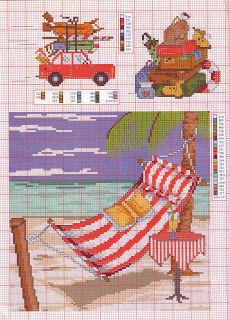 Cross Stitch World: beach