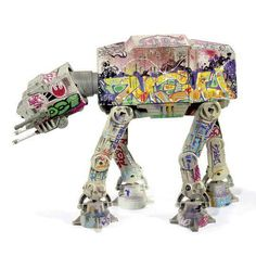 'Graff-At' - Hasbro Star Wars vehicle customized by professional Graffiti artists EASE and JK5 under the direction of SUCKADELIC