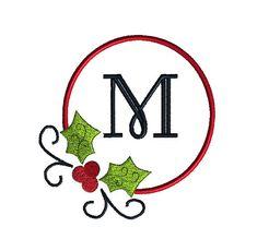 Christmas Frame for Monograms Machine Embroidery Design $3