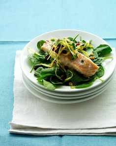 Roasted Salmon with Lemon Relish Recipe