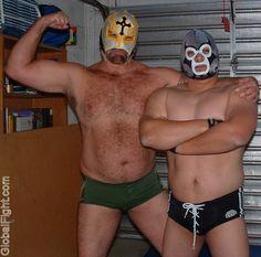 big husky masked wrestling bear daddies buddies