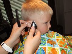 How To Cut Boys Hair The Professional way...not sure if I'm brave enough to try this!  maybe when he's older and not so wiggly.