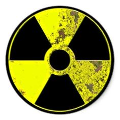 Nuclear Symbol Stickers from http://www.zazzle.com/stickers
