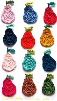 easy crochet pears
