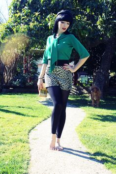 """#ootd """"Green was the color that she wore"""""""