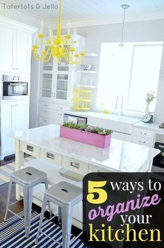 5 Amazing Tips to Organize Your Kitchen! So many great ideas to stay on top of the mess in the most used room in your home! -- Tatertots and Jello #ad