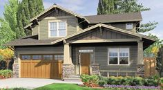 Brentwood House Plan  Interesting shallow porch roof.
