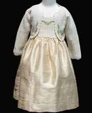 Hand Crochet Holiday silk dress 3T    http://www.carouselwear.com/hand-crochet-christmas-dress.html
