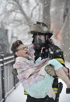 Wonderful photo!  Thank you to all the professional and volunteer firefighters!!!!! My dad was a volunteer firefighter. God Bless The Kind Hearted! ;)