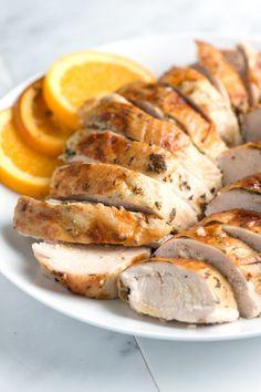 Orange and Herb Roasted Turkey Breast Recipe from www.inspiredtaste.net