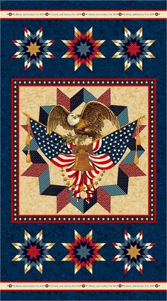 cotton candy, american pride, pattern, shops, american valor, eagles, patriot quilt, patriotic quilts, eagl panel