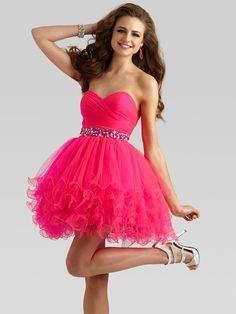 vestidos rosas cortos