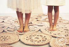 alfombra de trapillo diseño handmade
