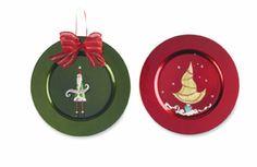christmas charger plates
