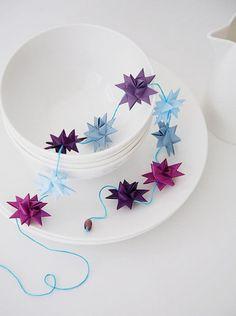 Christmas Paper Star Origami Garland