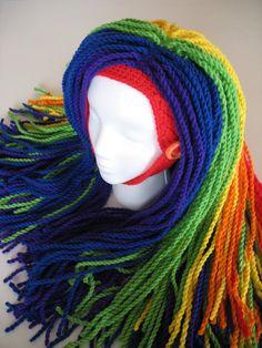 Rainbow Clown Wig by ~djonesgirlz