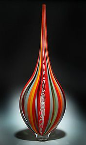 """Resistenza in Crimson and Marigold""  murano"