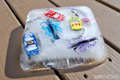 Keep cool with this fun ice block excavation craft!!