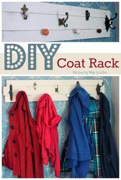 The Crafty Blog Stalker: DIY Coat Rack