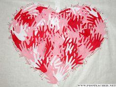 Valentine's Day: Loving Hands Bulletin Board