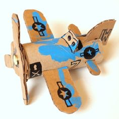 A super fun kids' craft for little ones who love planes.  Template for parts included.