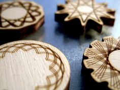 spirograph wooden magnets