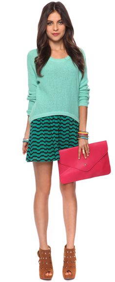Mint look by Forever21